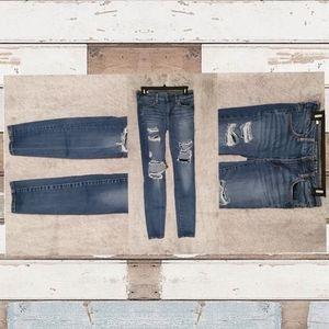 American Eagle jeans lightly worn size 4 super str